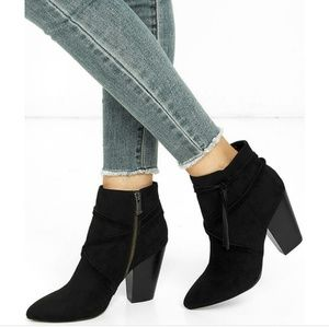 Report Indiana Black suade Boots